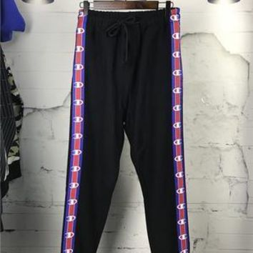 AUGUAU Vetements X Champion Cotton-blend Track Pants in Black (trending right now)