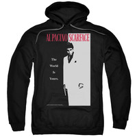 SCARFACE/CLASSIC-ADULT PULL-OVER HOODIE-BLACK