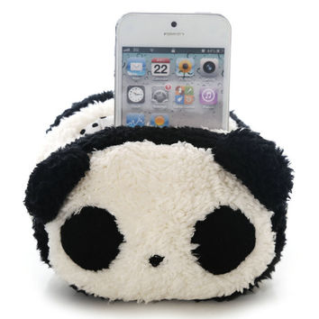 Dmart7deal Plush Toy Animal Mobile Phone Holder Stand Pouch Case Cute Panda Plush for iPhone 5s