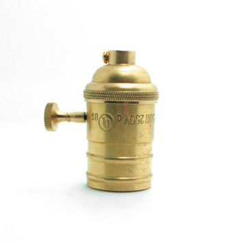 Brass Copper Keyed Bulb Holder