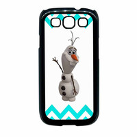 Olaf Disney Frozen Blue Chevron Samsung Galaxy S3 Case