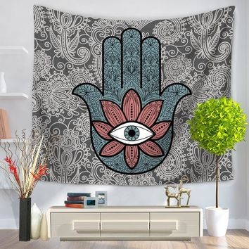Indian Decor Mandala Print Tapestry Wall Hanging Hand Bohemian Twin Bedspread Beach Picnic Throw Towel Yogo Mat