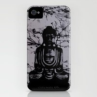 Buddha_charcoal grey iPhone Case by Garima Dhawan | Society6