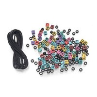 Darice Crafts Plastic Bracelets Bead Kit, What Would Jesus Do
