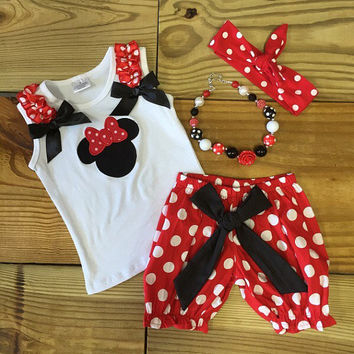 Minnie Mouse Clothes Red Polka Dot Outfit