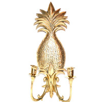 Pineapple Sconce Pineapple Candle Holder Pineapple Wall Sconce Brass Wall Sconce Brass Pineapple