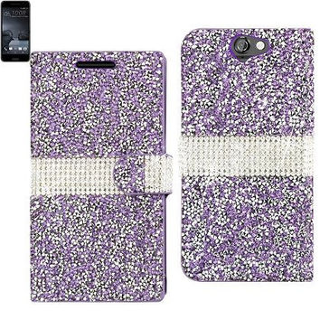 BLING Diamond Flip Case HTC One A9 PURPLE