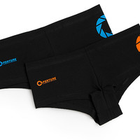 Portal 2 Ladies' Boyshorts 2-pack - Black,