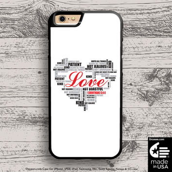 Love typography Bible Verse case for iphone 5s 6s case, samsung, ipod, HTC, Xperia, Nexus, LG, iPad Cases