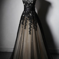 Black Sleeveless Prom Dresses,V-Neck Prom Dress,Evening Dresses