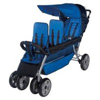 Foundations LX3 Three Passenger Stroller - Blue