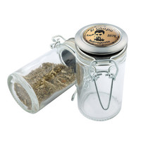 Glass Stash Jar - El Chapo 3578 - Storage Container -  Custom Herb Grinder Secret Stash Box - Stay Fresh Herbs 1/6 oz.