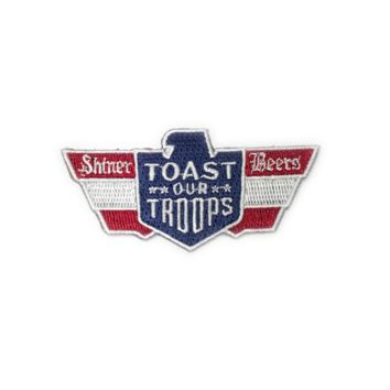 Embroidered Toast Our Troops Patch
