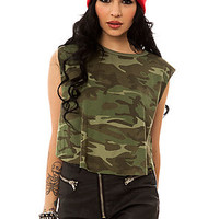 Obey The Vintage Voodoo Cropped Tank in Classic Camo : Karmaloop.com - Global Concrete Culture