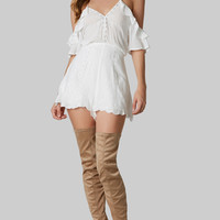 Fill Me In Embroidered Romper