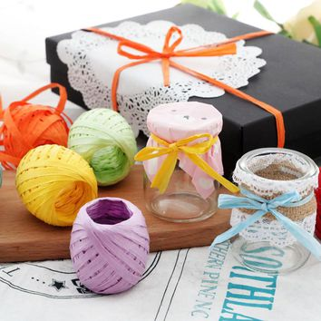 20m DIY Twisted Paper Raffia Ribbon Craft Favor Gift Wrapping Twine Rope Thread Scrapbooks Invitation Flower Packaging Supplies