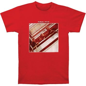 Beatles Men's  62-66 Album T-shirt Red Rockabilia