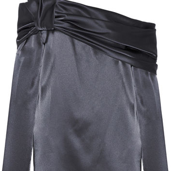 One-shoulder satin top | Baja East | US | THE OUTNET