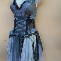 "20%OFF gothic inspired bustier top..,,small to 38"" bust..."