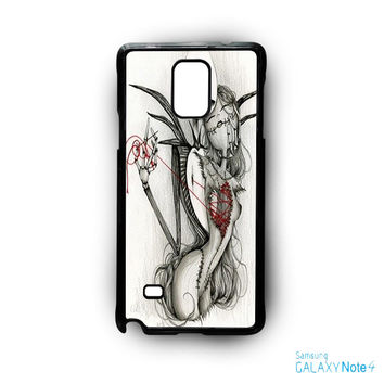 The Nightmare Before Christmas Jack and Sally for Samsung Galaxy Note 2/Note 3/Note 4/Note 5/Note Edge phone case