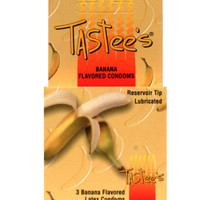 Tastees Condoms - Banana Box Of 3