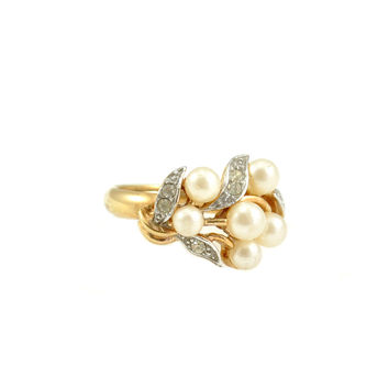 70s__Avon__Wrapped Pearl Cocktail Ring