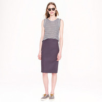 J.Crew Womens Tall No. 2 Pencil Skirt In Cotton Twill