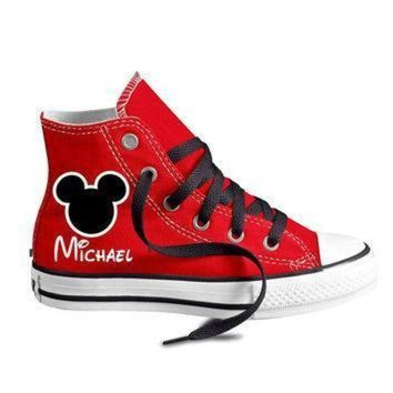 ICIKGQ8 personalized infant and kids custom mouse ears high top converse shoes