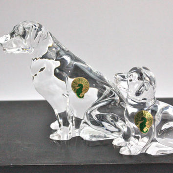 Waterford Crystal Labrador Retriever / Dog Statues / Home Decor