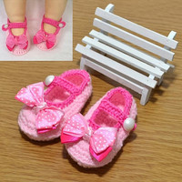 Newborn Infant Girls Crochet Knit Sock Crib Shoes for 0-12 Month Baby JK = 1958121924