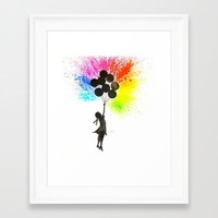 Balloon Girl - Banksy Inspired Framed Art Print by ahmadillustrations
