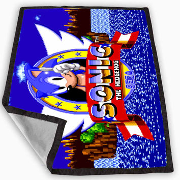 Sonic The Hedgehog Blanket for Kids Blanket, Fleece Blanket Cute and Awesome Blanket for your bedding, Blanket fleece *