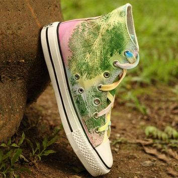 PEAPON Fashion hand-painted flat shoes