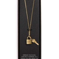 The Giving Keys 'Inspire' 27-Inch Lock & Key Lariat Necklace | Nordstrom