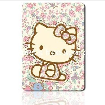 Floral pink hello kitty padmouse cute cartoon mousepad gaming mouse pad gamer large notbook computer mouse mat gear mouse pad