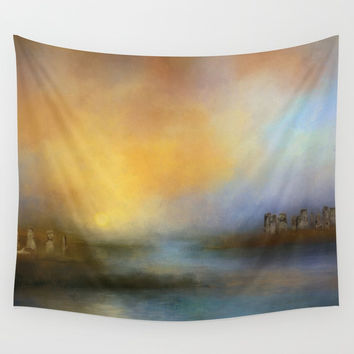 Monoliths - Who Were We Wall Tapestry by Theresa Campbell D'August Art