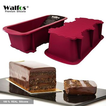 WALFOS FOOD GRADE non stick cake bread mold bakeware Large toast french Bread Pan-soap loaf pan mold-baking silicone cake pan