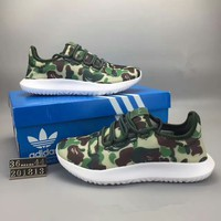 """Adidas Tubular Shadow"" Unisex Sport Casual Camouflage Coconut Sneakers Couple Light Running Shoes"