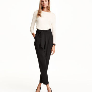 H&M Pants with Tie Belt $34.99