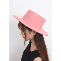 d/s by Drive Store™ Pink Wide-Brim Wool Fedora Hat