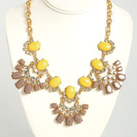 Rock-sy Lady Yellow Statement Necklace