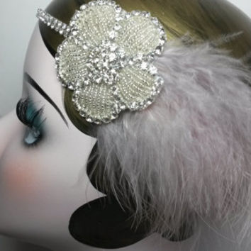 Charleston, Flapper, Great Gatsby, fancy dress, ladies, bridal, winder wedding headband, headpiece, dance, jazz singer, FREE SHIPMENT