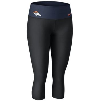 Nike Denver Broncos Women's Dri-FIT Legend Performance Capri Pants - Black-Navy Blue