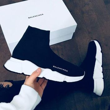 Balenciaga Trending Women Men Personality Breathable High Help Sport Shoes Sneakers I