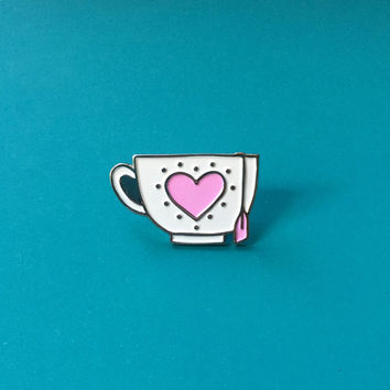 Teacup Enamel Pin