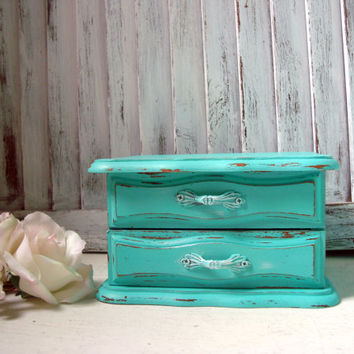 Shop Distressed Jewelry Box on Wanelo