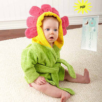 mini hooded towel baby bathrobe character cotton cloth wipes baby bath baby blanket sunflower christmas gift