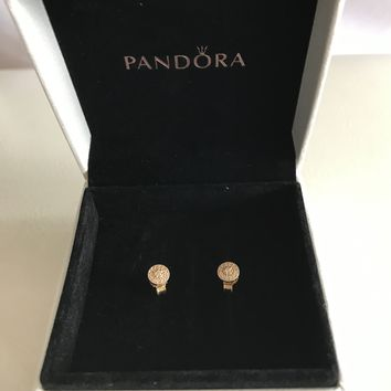 Pandora Radiant Elegance Stud Earrings - 14K Gold
