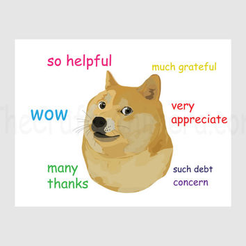 Thank You Doge Printable Card
