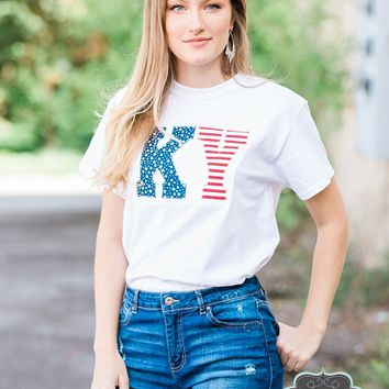 Kentucky Patriotic Applique Tee